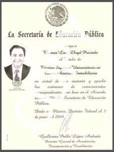 Degree in Mexico Real Estate