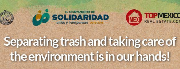 Separating Trash in Playa del Carmen