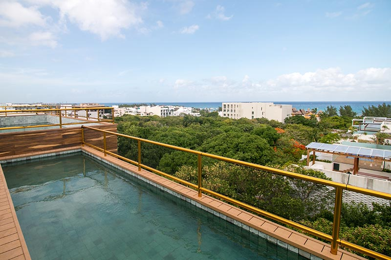 Penthouse in the Riviera Maya with Common Roof Top