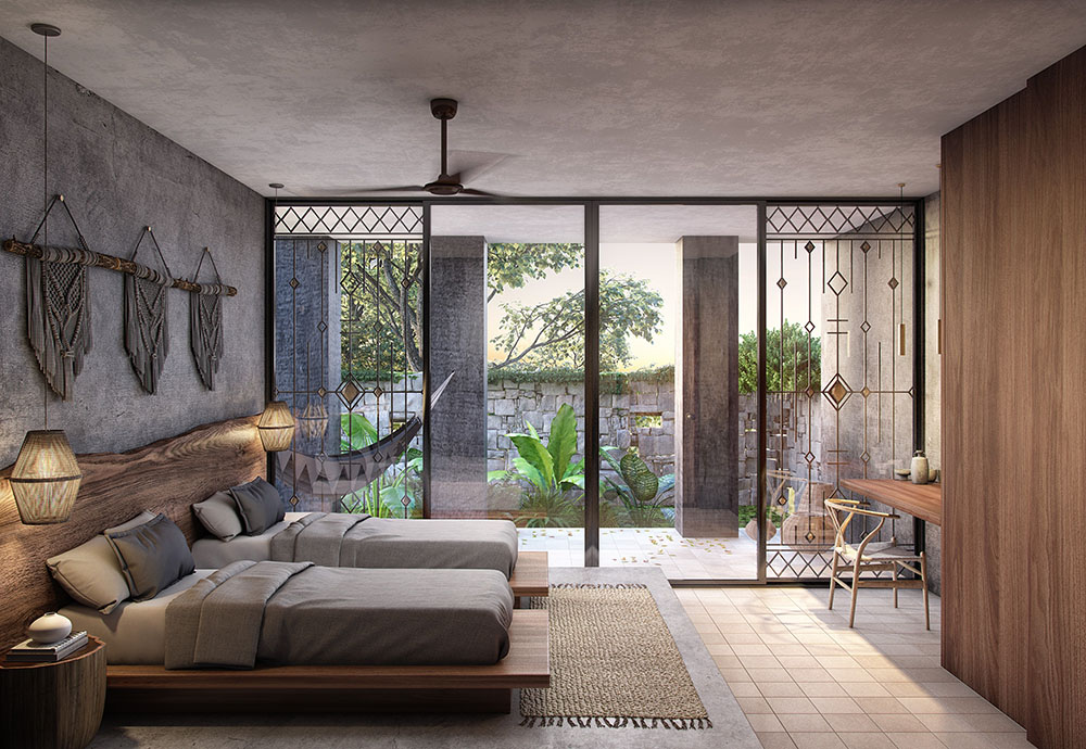 Templia Tulum Retreat Bedroom