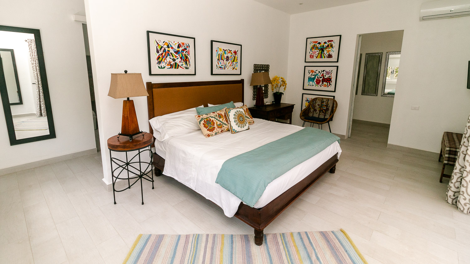Master Bedroom of a beautiful home inside Tulum Gated Community
