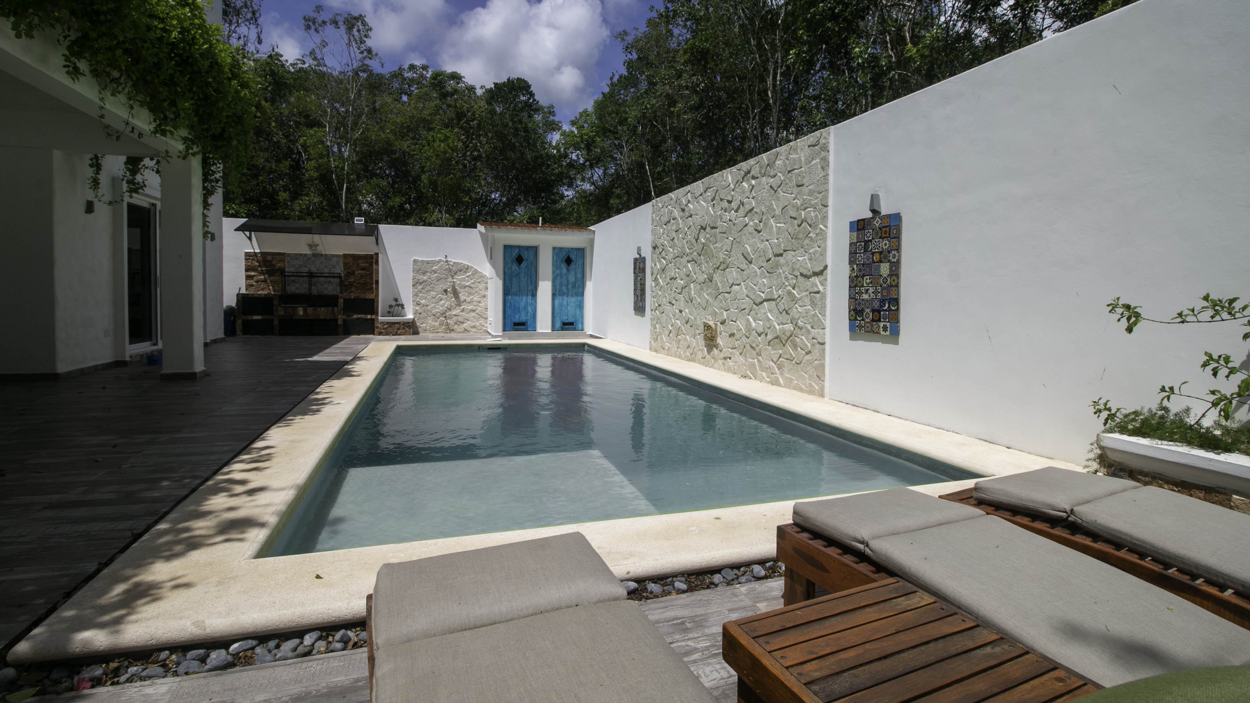 Exterior of beautiful 3-bedroom home for sale in Tulum