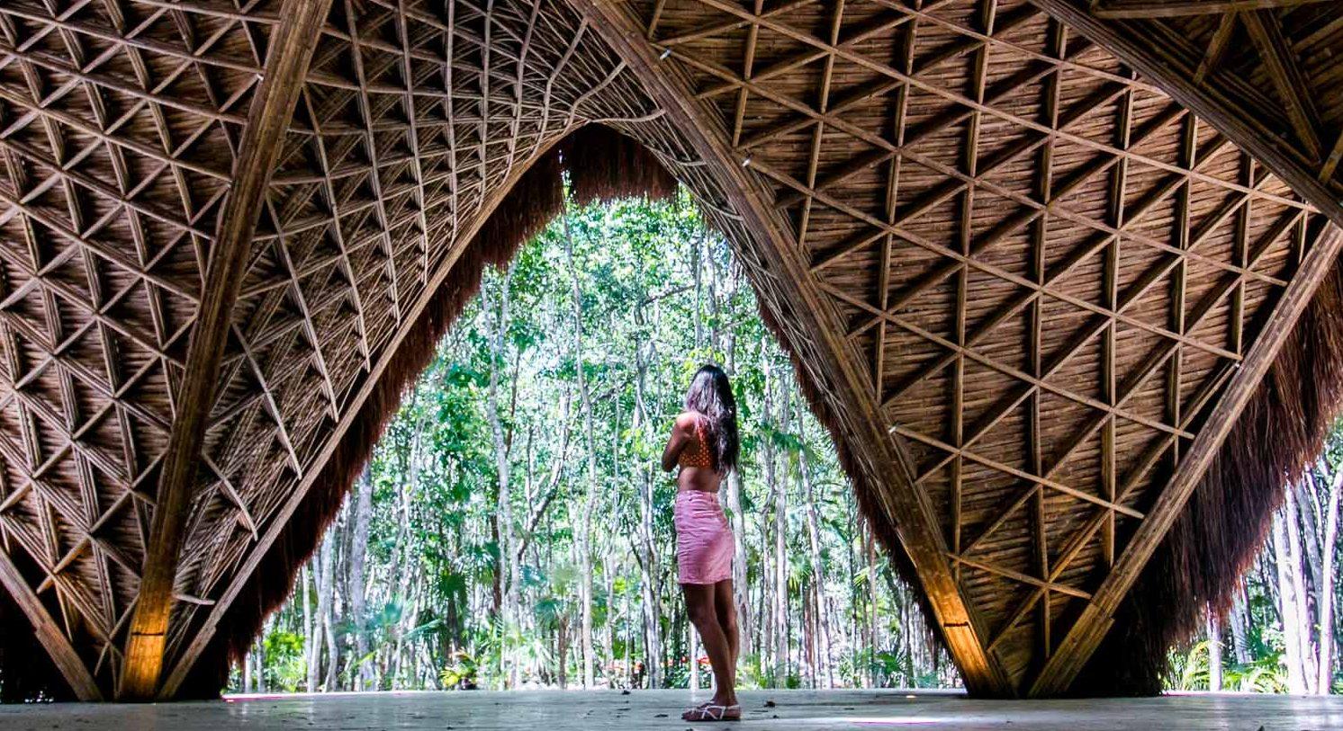Tulum amenities: The magnificent yoga palapa inside Luum Zama gated community in Tulum