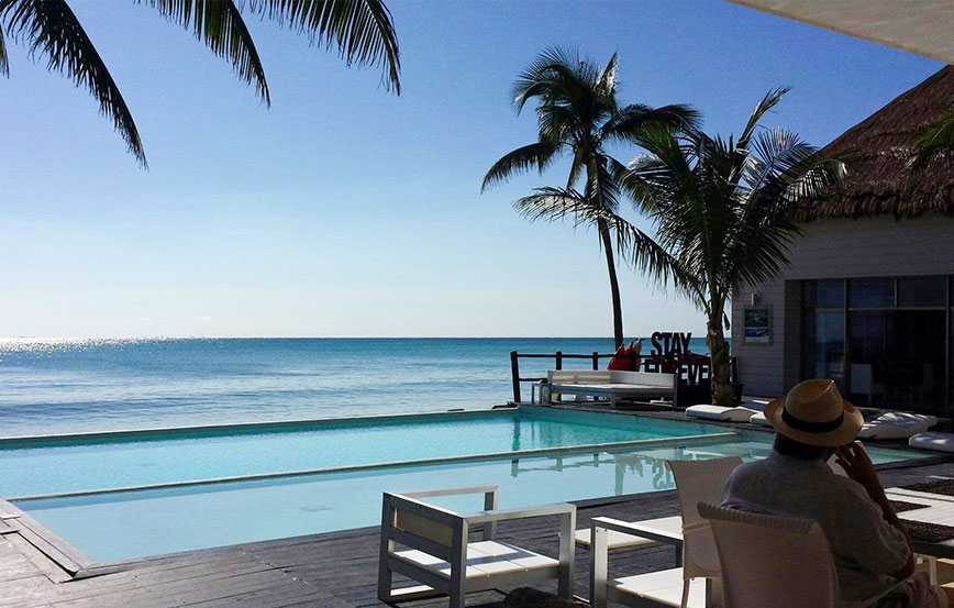Corasol is a beachfront community in Mexico with a private beach club