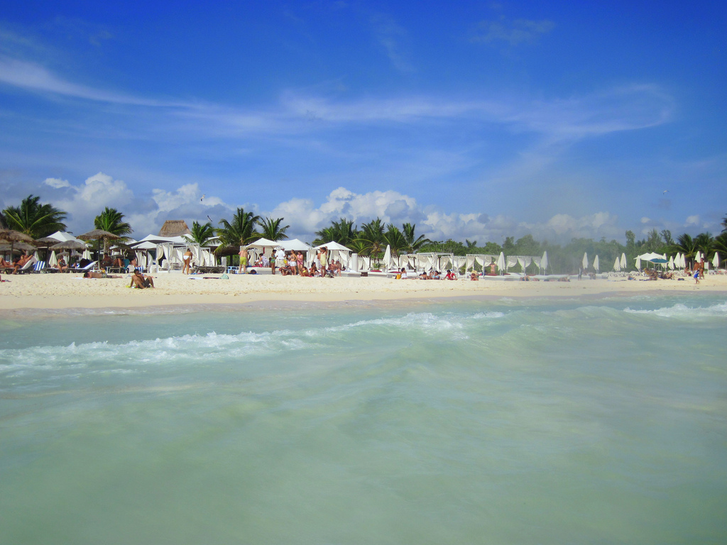 Mamitas Beach in Playa del Carmen